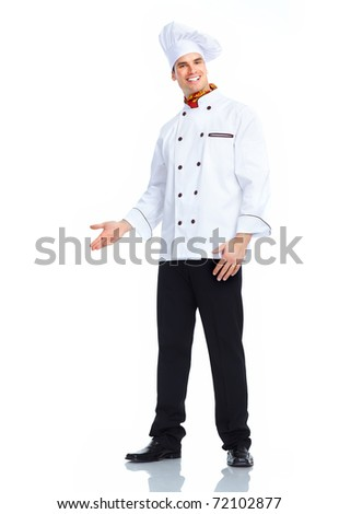 Chef man. Isolated over white background