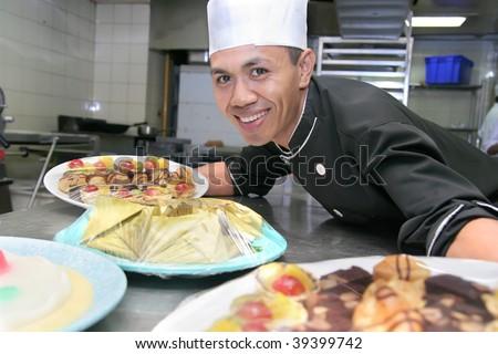 chef pastry - stock photo
