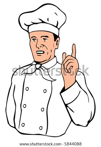Chef pointing a finger