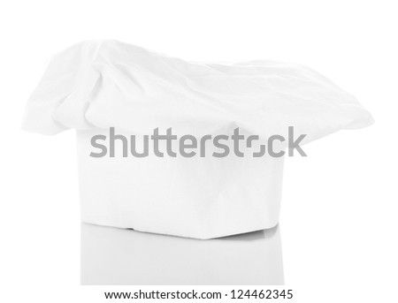 Chef's hat isolated on white - stock photo