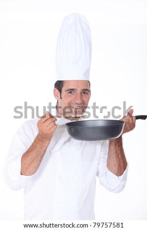 Chef smiling - stock photo