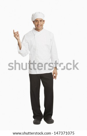 Chef snapping fingers - stock photo