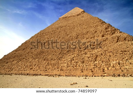 Chefren pyramid in Giza - Egypt