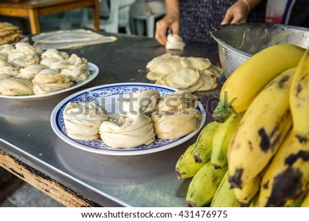 Chefs are cooking roti - stock photo