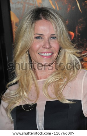 "Chelsea Handler at the Los Angeles premiere of her new movie ""Fun Size"" at the Paramount Theatre, Hollywood. October 25, 2012  Los Angeles, CA Picture: Paul Smith - stock photo"