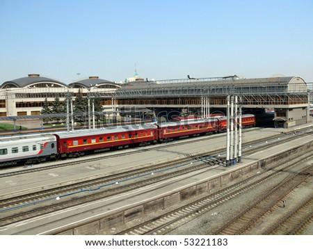 Chelyabinsk railway station - stock photo
