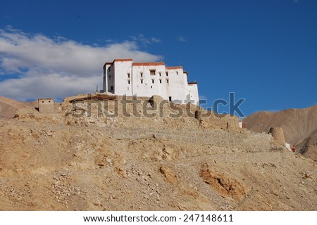 Chemdey gompa, Buddhist monastery in Ladakh - stock photo