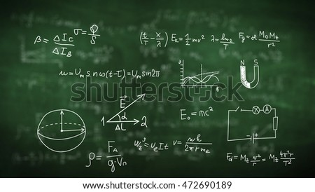 Chemical and physical figures, plots, formulas, equations.