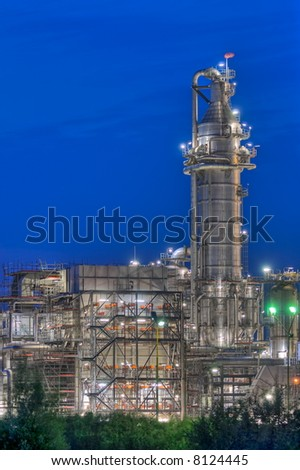 Chemical complex with photogenic tower