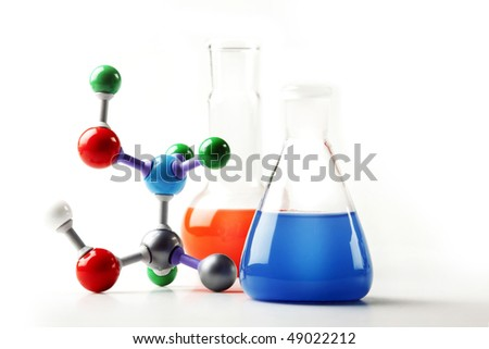 chemical concept in laboratory