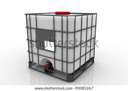 Chemical containers - stock photo
