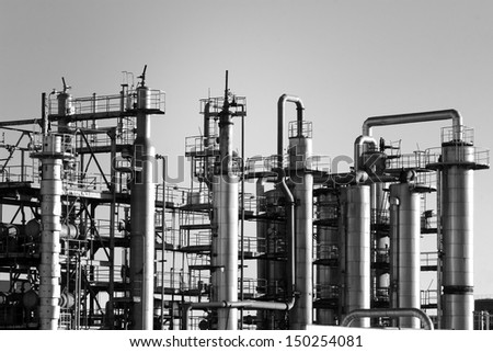 Chemical factory - stock photo