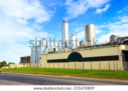 chemical factory exterior against sky