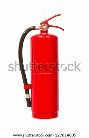 Chemical fire extinguisher isolated on white background, with clipping path - stock photo