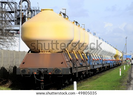 chemical freight - stock photo