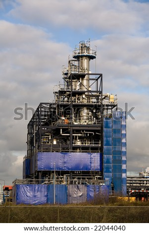 Chemical Industrial Plant Under Construction - stock photo
