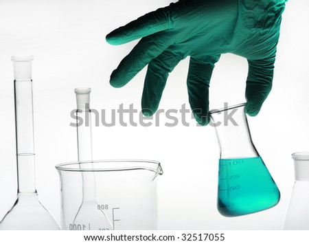 chemical laboratory - stock photo
