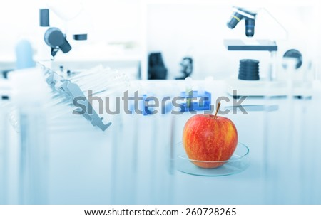 Chemical Laboratory of the Food supply. - stock photo