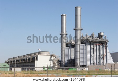 chemical plant - stock photo