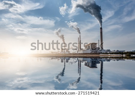 chemical plant, toned iamges, zhaijiang china. - stock photo