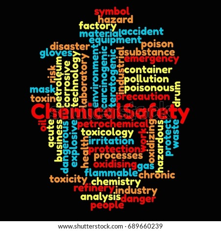 Chemical Safety Management word cloud concept