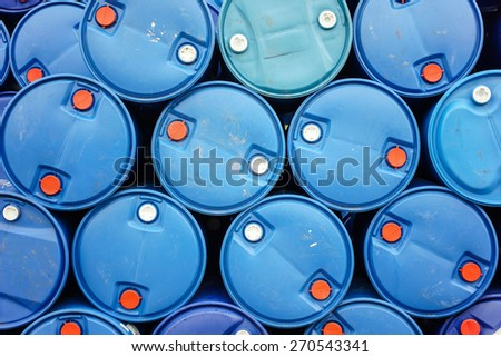 Chemical tank stock With exports - stock photo