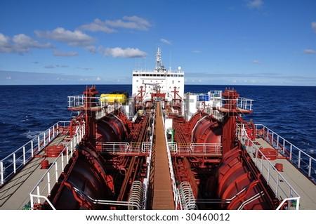 chemical tanker - stock photo