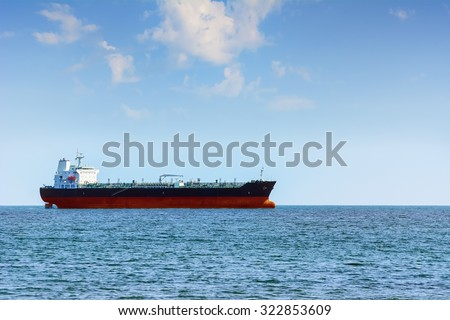 Chemical Tanker in the Black Sea - stock photo