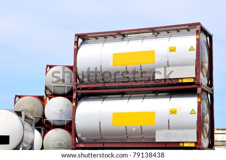 chemical transport container - stock photo