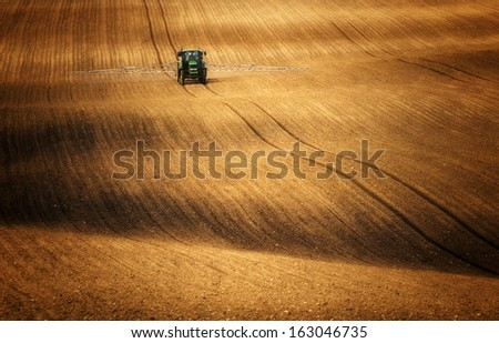 chemistry and agriculture  - stock photo