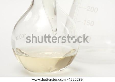 Chemistry equipments - stock photo