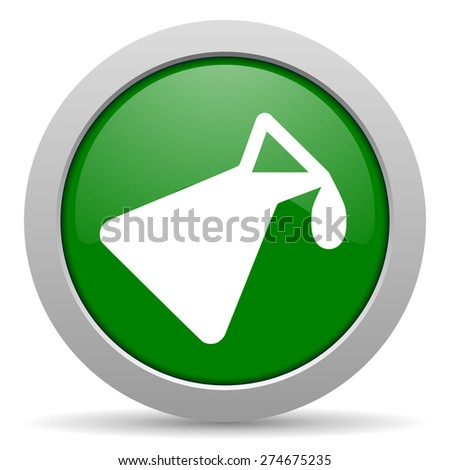 chemistry green glossy web icon