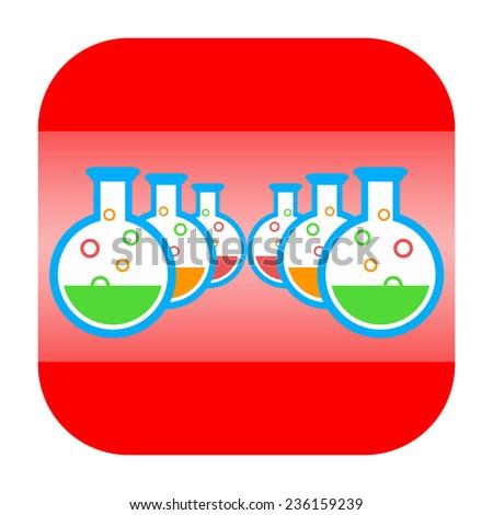Chemistry icon - stock photo