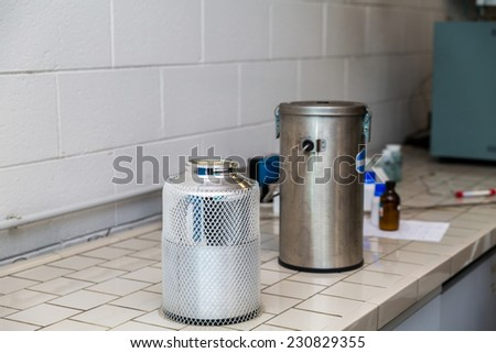 chemistry lab - stock photo