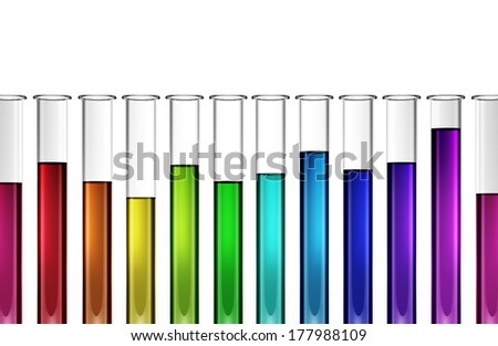 chemistry research test tube tools for experiment, enzyme, catalyst, natural concepts - stock photo