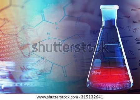 Chemistry science formula. Science symbol. - stock photo