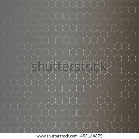 Chemistry seamless pattern, hexagonal design illustration. - stock photo