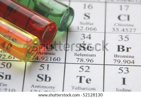 Chemistry. Test tube series - stock photo