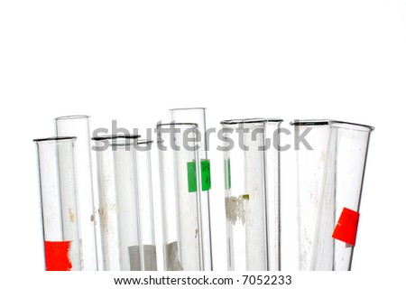 chemistry tube isolated on white background