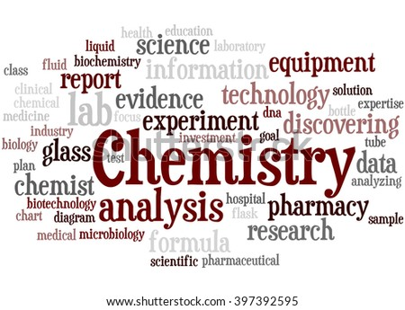 Chemistry, word cloud concept on white background.