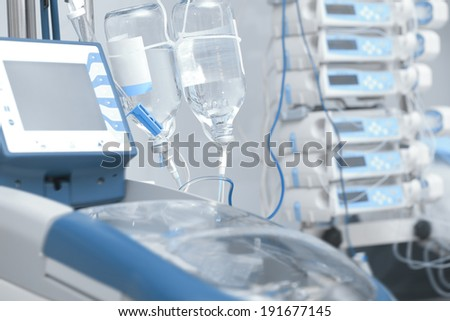Chemotherapy. Intravenous infusion  - stock photo