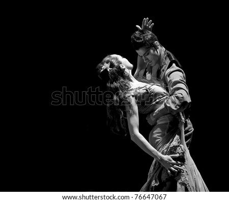 CHENGDU, CHINA - DEC 28: The Best Flamenco Dance Drama at JINCHENG theater on Dec 28, 2008 in Chengdu, China. - stock photo