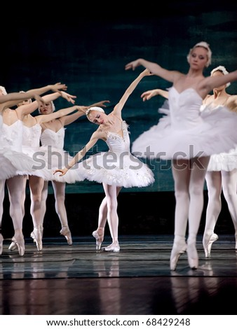 CHENGDU, CHINA - DEC 24: The Russian Royal Ballet performs Swan Lake at The Jinsha theater on December 24, 2008 in Chengdu, China.