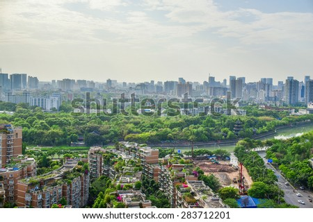 chengdu city at china
