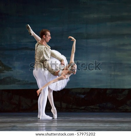 CHENGDU - DEC 24: Swan Lake ballet performed by Russian royal ballet at Jinsha theater December 24, 2008 in Chengdu, China.