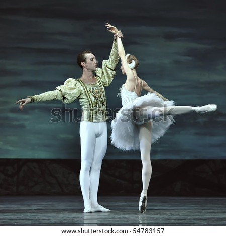 CHENGDU - DECEMBER 24: Russian royal ballet perform Swan Lake ballet at Jinsha theater December 24, 2008 in Chengdu, China. - stock photo