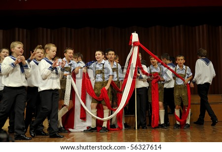 CHENGDU - SEPT 21: Concert of Austrian St,Florian Boy's Choir at JIAOZI concert hall SEP 21, 2008 in Chengdu, China. - stock photo