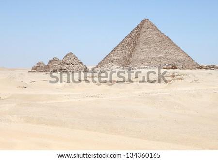 Cheops Pyramid in Giza - stock photo