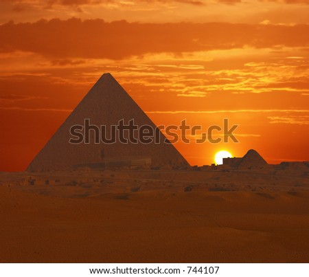 Cheops Sunrise - stock photo