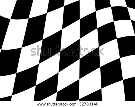 Chequered flag - stock photo